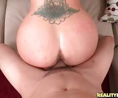 Bruno Dickenz skillfully works his thick dick inside Holly Heart`s cunt.