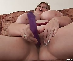 Juliana simply can`t keep her fingers out of her fat twat!
