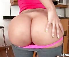 Naughty Latina Paola lets you enjoy the view of her huge butt.