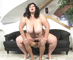 Andrea is on her Knees Sucking Cock!