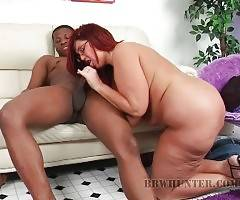 Fattie Peaches is fond of getting her pussy filled with hard cock.