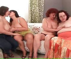 Four Chubby Ladies Free Their Lust 3